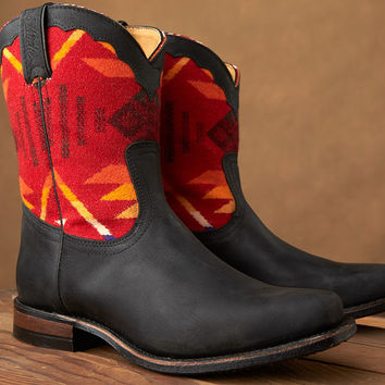 Paul Brodie Women's Boulet Boots - Pendleton® Wool Coyote Butte Red