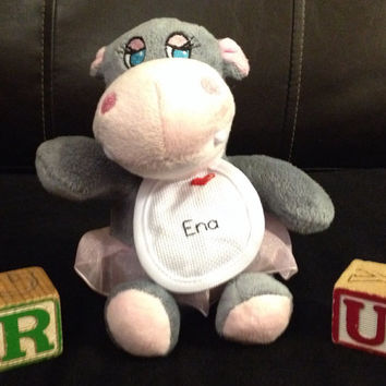 Personalized Stuffed Hippo