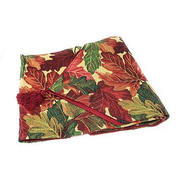 Tache Warm Colorful Thanksgiving Leaves Fall Foliage Tapestry Table Runners (11516)