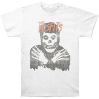 Misfits Men's  Distressed Classic Skull Slim Fit T-shirt Vintage