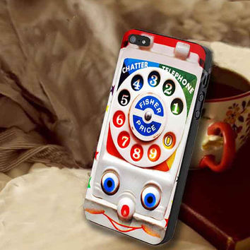 Retro Vintage smiley kids Toys Dial Phone customized for iphone 4/4s/5/5s/5c, samsung galaxy s3/s4/s5 and ipod 4/5 case