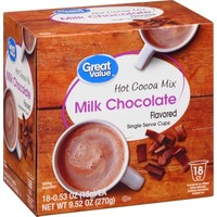 Great Value Milk Chocolate Hot Cocoa Mix Single Serve Cups, 18 Count - Walmart.com
