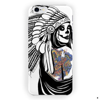 Indian Death Skull Tattos Design For iPhone 6 / 6 Plus Case