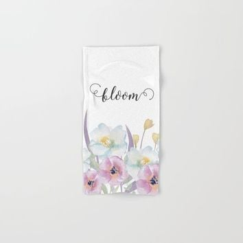 bloom Hand & Bath Towel by Sylvia Cook Photography