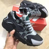 NIKE x Gucci AIR Huarache Fashion Running Sneakers Sport Shoes