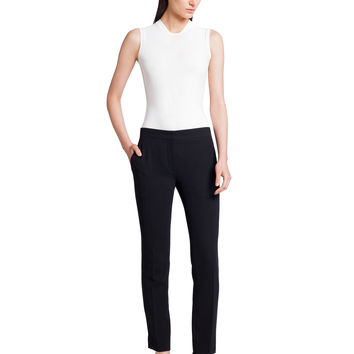 Narciso Rodriguez Wool Crepe Trouser - Black