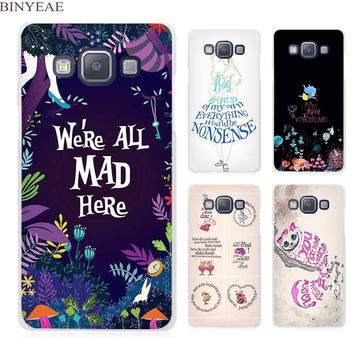 BINYEAE Alice in Wonderland Anime Clear Transparent Cell Phone Case Cover for Samsung Galaxy A3 A5 A7 A8 A9 2016 2017