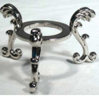 Silver Plated Flower crystal ball stand
