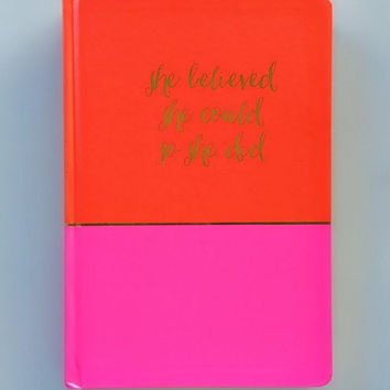 Red & Hot Pink Inspiration Journal