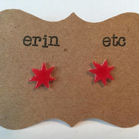 Handmade Plastic Fandom Earrings - Jem