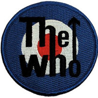 The Who Target Logo Licensed Music Embroidered Iron On Applique Patch CD482