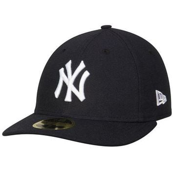 DCK4S2 New Era 59Fifty MLB Cap New York Yankees Low Profile GM Navy Blue Fitted Hat