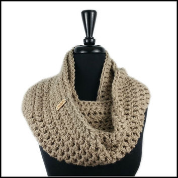 Taupe Chunky Infinity Scarf