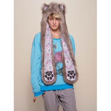Collector Edition Northern Star Wolf Faux Fur SpiritHood