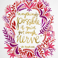 Anything's Possible – Gold & Red Art Print by Cat Coquillette   Society6