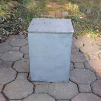 Milk Bottle Box, Monticello Dairy Metal Galvanized Milk Storage Box, Vintage Industrial Tin MilkBox Case
