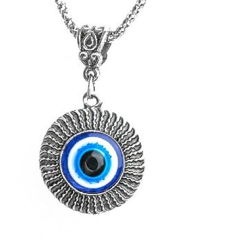 New Dolphin Evil Eye Classic Pendant Necklace for Women