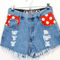Vintage Disney Polka Dot Pocket Shorts