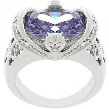 Lilac Saddle Cocktail Ring (size: 09) (pack of 1 ea)
