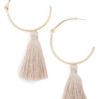 Melanie Auld Starbust Tassel Hoop Earrings | Nordstrom