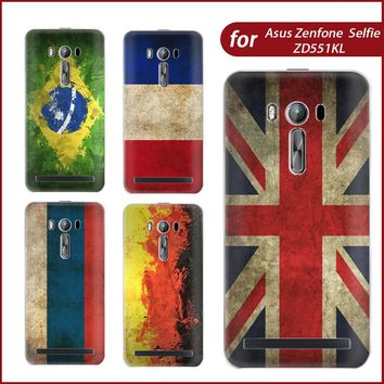 For Asus Zenone Selfie ZD551KL Case Flag TPU Case Cover For Asus Zenfone Selfie Phone Case Silicon Phone Protective Fundas