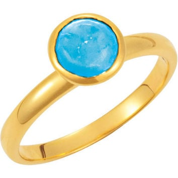 Missoma® 18k Yellow Gold Vermeil Turquoise Stackable Ring