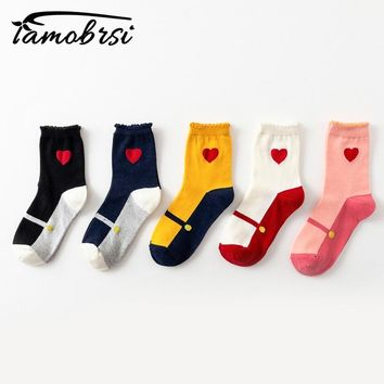 2018 College Women's White Korean Japanese Short Kawaii Warm Winter Cotton Sox Cute Sweet Ladies Casual Socks Women Socks Female