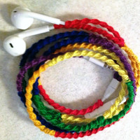 Loud and Proud! Earbuds / Wrapped Tangle Free Headphones / Chargers and Cables, LGBT - by MyBuds