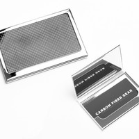 Reach Carbon Fiber Stainless Steel Business Card Case