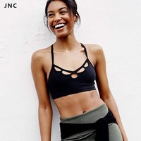 JNC Cute Sports Bra for Women Padded Running Fitness Athletic Vest Sport Bra Workout Yoga Tank Top Push Up Underwear for Female