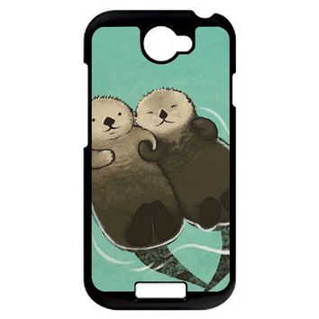 Significant Otters Otters Holding Hands HTC One S Case