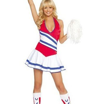 Atomic Red, White and Blue Cheerleader Costume