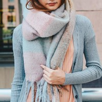Oversized Color Block Scarf