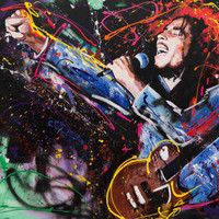 "Bob Marley, Original Painting, 63"", Worldwide Shipping, Art, Music, Graffiti, Large, Richard Day"