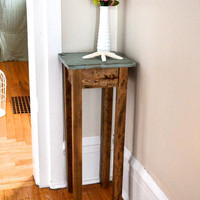 The Tee - Blue Pine Side Table / Nightstand / Pot Stand
