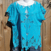 Blue bali shirt by myliltreasureboxx on Etsy