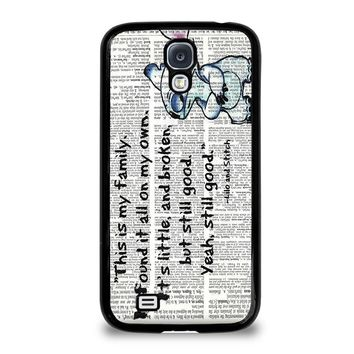 LILO AND STITCH QUOTES Disney Samsung Galaxy S4 Case Cover