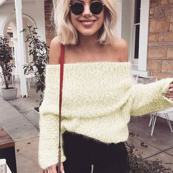 Women's Fashion Winter Hot Sale Knit Tops [189416636442]