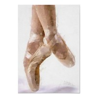 Ballet Dancing Shoes Poster