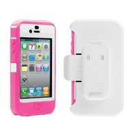 Pink White otterbox Defender Case For iPhone 4 4S 4G 4GS