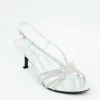 "Wedding Shoes Silver (Style ""Bella"" 800-82)"