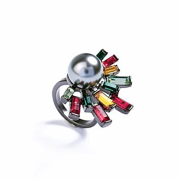DEENA - Pearl Color Splash Ring