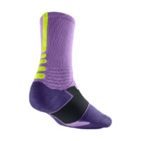 Nike Hyper Elite Crew Basketball Socks - Atomic Purple