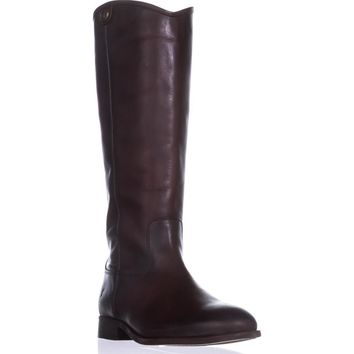 FRYE Melissa Button 2 Tall Riding Boots, Redwood, 9.5 US