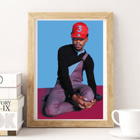 Chance The Rapper Grammy Nominee poster, Best new artist, Hip hop, Home Wall Decor, Music Poster, Music Prints, Rap Poster, Hip Hop Poster
