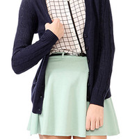 Cable Knit Sleeve Cardigan