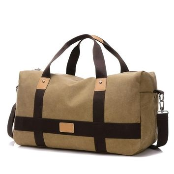 New Arrival Travel Bag Large Capacity Men Hand Luggage Travel Duffle Bags Canvas Weekend Bags Multifunctional Travel Bags