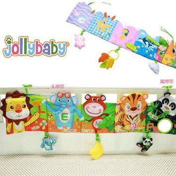 Colorful animal Patterns Baby Mobile Cloth Book Crib Bed Around Soft Plush Early Educational multi-touch Cot Baby Toys