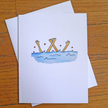 Wedding / Engagement Card - Taking the Plunge - Best Wishes Congratulations
