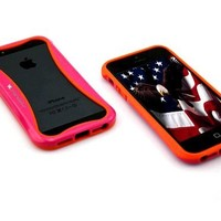 SANOXY® GLOW in the DARK PC + TPU Bumper Case Cover Side Clips for iPhone 5 5S (HOT PINK)